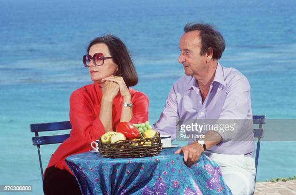 Author Brian Moore enjoying the view from his seaside home with his wifeJanuary 12 1987 Malibu California