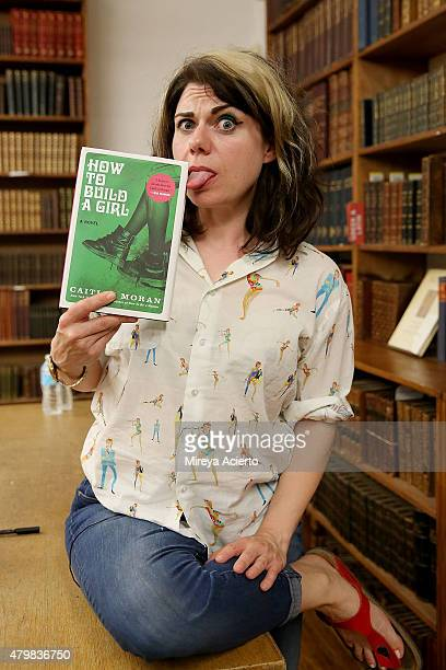 Author Caitlin Moran signs copies of her book 'How To Build A Girl' at Strand Bookstore on July 7 2015 in New York City
