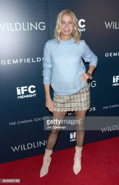 Author Candace Bushnell attends the screening of IFC Midnight's 'Wildling' hosted by The Cinema Society and Gemfields at iPic Theater on April 8 2018...
