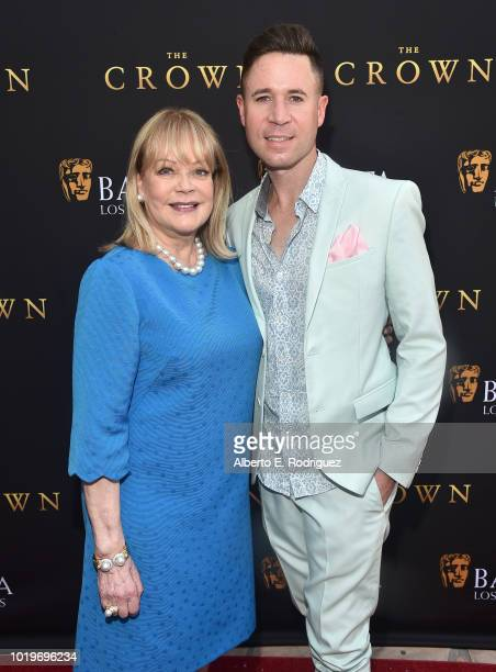 Author Candy Spelling and Casey Monroe attend the BAFTALA Summer Garden Party at The British Residence on August 19 2018 in Los Angeles California