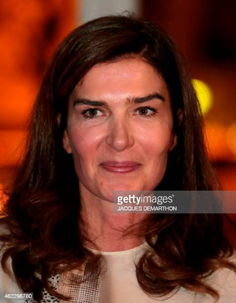 Author Capucine Motte one of the creators of the Anais Nin Prize poses for a photograph in Paris on January 26 2015 AFP PHOTO /JACQUES DEMARTHON