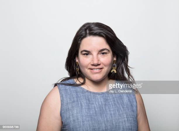 Author Carina Chocano is photographed for Los Angeles Times on April 21 2018 in the LA Times Studio at the Los Angeles Times Festival of Books at the...