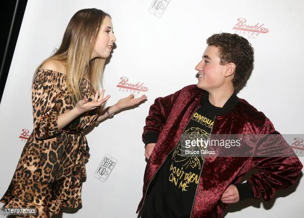 Author Carrie Berk and Ryan McKenna aka The Selfie Kid chat during a launch event promoting his Selfie Kid X Brooklyn Cloth Limited Edition TShirt...