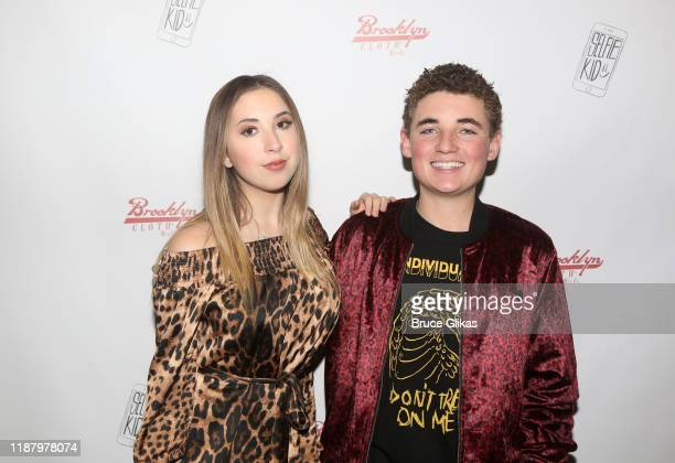 Author Carrie Berk and Ryan McKenna aka The Selfie Kid pose during a launch event promoting his Selfie Kid X Brooklyn Cloth Limited Edition TShirt...