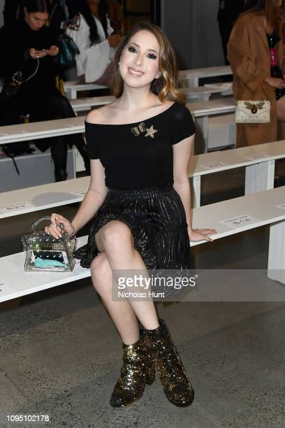 Author Carrie Berk attends the Tadashi Shoji FW'19 Fashion Show front row during New York Fashion Week The Shows at Gallery I at Spring Studios on...