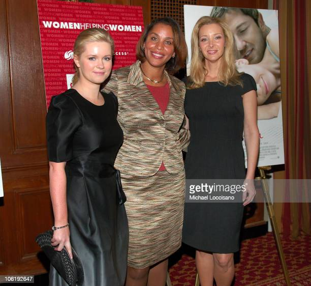 Author Cecelia Ahern Dress for Success CEO Joi Gordon and Actress Lisa Kudrow attend the Dress for Success Fundraiser at the New York Athletic Club...