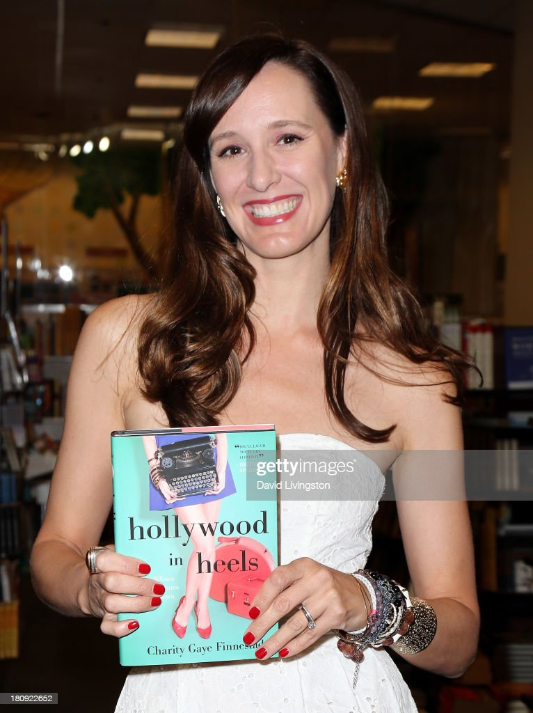 Author Charity Gaye Finnestad attends a signing for her book 'Hollywood in Heels' at Barnes & Noble bookstore at The Grove on September 17, 2013 in Los Angeles, California.