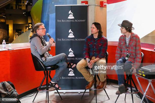 Author Charles R Cross speaks with musicians Peter Droge and Ian Moore at the GRAMMYPro Songwriter's Summit at Museum of Pop Culture on April 30 2017...