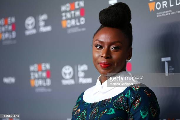 Author Chimamanda Ngozi Adichie attends the 8th Annual Women In The World Summit at Lincoln Center for the Performing Arts on April 5 2017 in New...