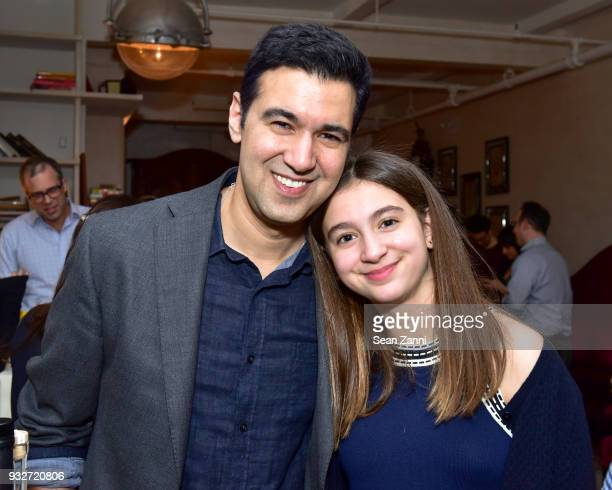 Author Chris Babu and Lily Babu attend 'The Initiation' Book Launch at Bouley TK on March 15 2018 in New York City