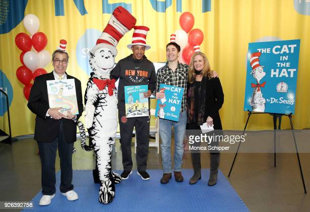 Author Chris Grabenstein The Cat In The Hat former professional basketball player John Starks actor Justin Long and President at theÊIntrepid Sea Air...