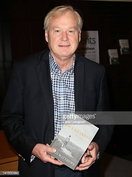 Author Chris Matthews attends a signing for his book Jack Kennedy Elusive Hero at Barnes Noble at The Grove on March 17 2012 in Los Angeles California