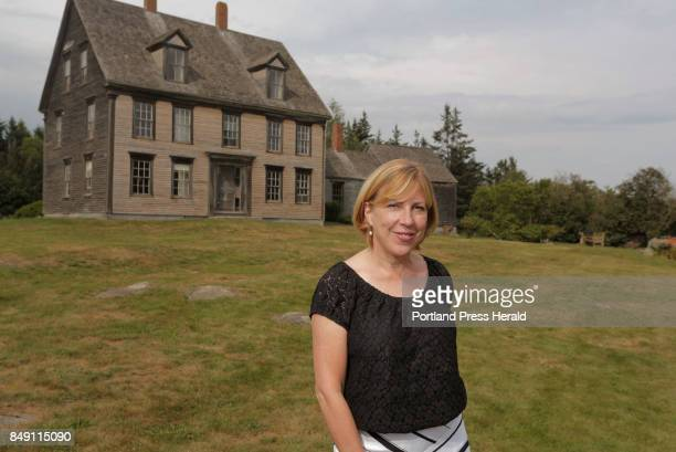Author Christina Baker Kline poses for a photo outside of the Olson House in Cushing on Thursday July 20 2017 Baker Kline has written a fictionalized...