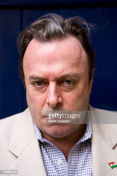 Author Christopher Hitchens poses for a portrait at the annual 'Sunday Times Oxford Literary Festival' held at Christ Church on March 25 2007 in...