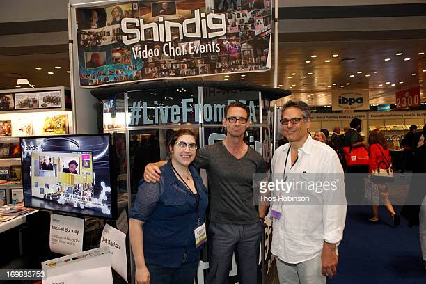 Author Chuck Palahniuk and Steve Gottlieb, founder & CEO, Shindig attend Shindig Hosts Live Video Chats with over Fifty Authors at BookExpo America...