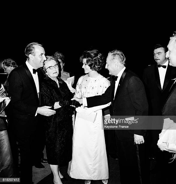 Author Cornelius Ryan, Mrs Gille, Actress Irina Demick And Director Producer Darryl F Zanuck At the Gala For the Movie 'The Longest Day' - 'Le Jour...