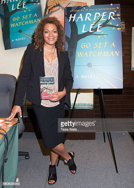 """Author Cynthia Bond poses for portrait at Celebrate Harper Lee: """"To Kill a Mockingbird"""" Read-a-Thon at Barnes & Noble at The Grove on July 13, 2015..."""