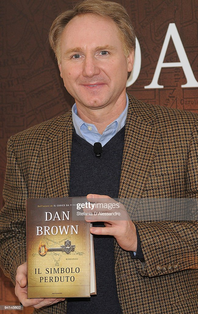 Author Dan Brown attends the Press Conference for the launch of his new book 'The Lost Symbol' held at Terrazza Martini on December 8, 2009 in Milan, Italy.