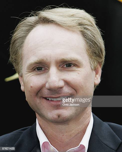 Author Dan Brown poses during a photocall for new film The Da Vinci Code at Eurostar's Waterloo International Terminal on May 16 2006 in London...