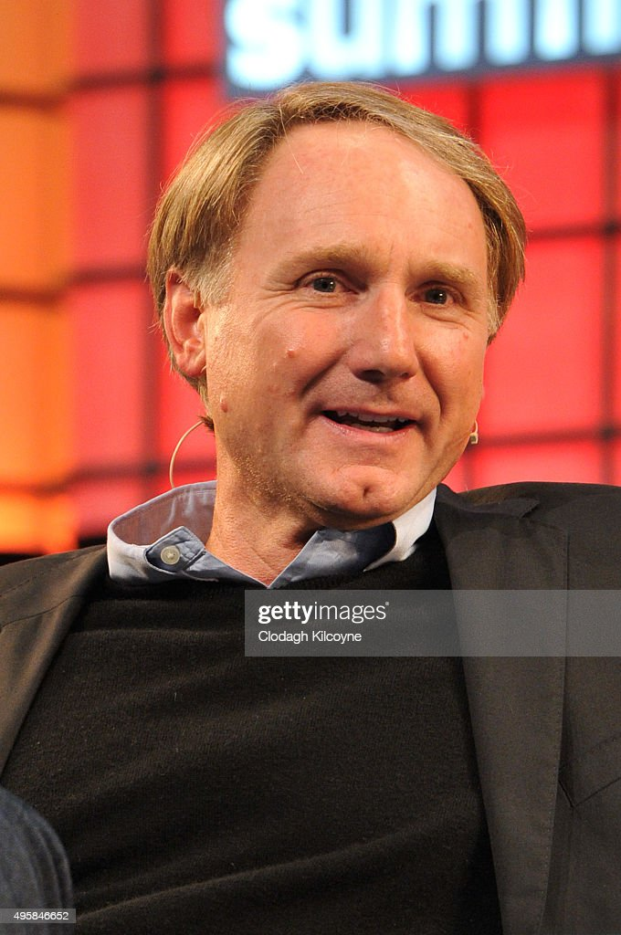 Author Dan Brown speaks on stage during the third day of the 2015 Web Summit on November 5, 2015 in Dublin, Ireland. The Web Summit is now in it's 4th year and is technology's most global gathering. In numbers, it has 42,000 attendees from 134 countries, 1,000 speakers, 2,100 startups and 1,200 media.