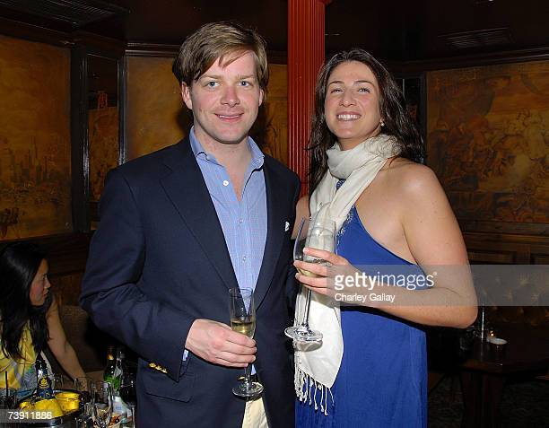 Author Dana Vachon and writer Melanie Shanley pose at Anonymous Content's party in celebration of his novel Mergers and Acquisitions at Bar Marmont...