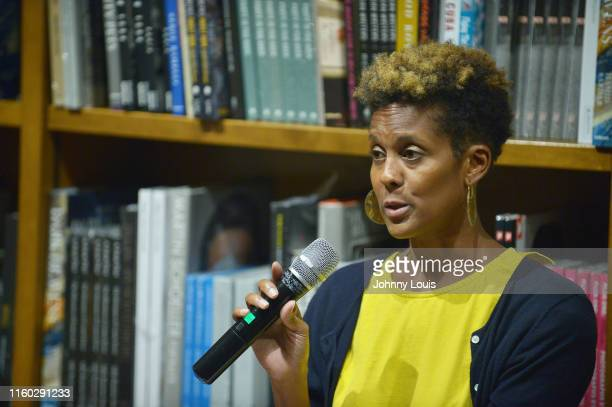 Author Dani McClain in conversation with Jamarah Amani during Dani McClain Book signing of We Live for the We The Political Power of Black Motherhood...