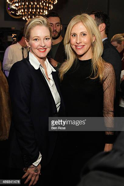 Author Danielle Rollins and author Emily Giffin attend the RH Atlanta The Gallery at the Estate in Buckhead opening celebration on November 20 2014...