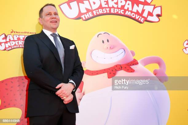Author Dav Pilkey attends the premiere of 20th Century Fox's 'Captain Underpants The First Epic Movie' at Regency Village Theatre on May 21 2017 in...