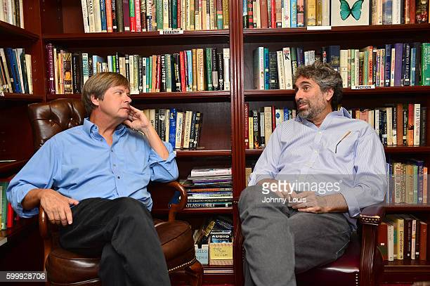 Author Dave Barry seated with Mitchell Kaplan before Barry discussion and signing copies of his new book BEST STATE EVER A Florida Man Defends His...
