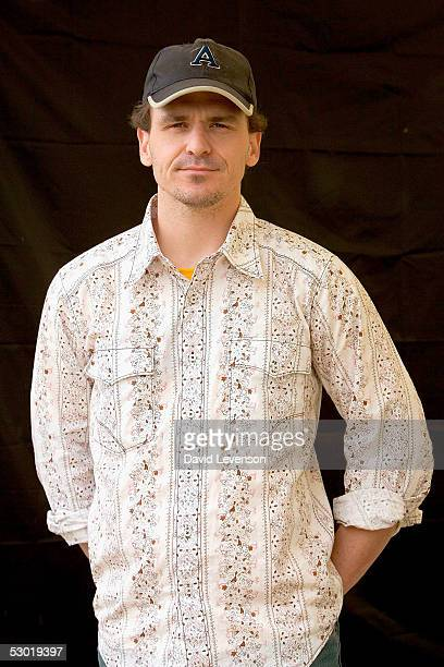 Author Dave Eggers poses for a portrait at 'The Guardian Hay Festival 2005' held at Hay on Wye on June 4 2005 in Powys Wales The festival runs until...