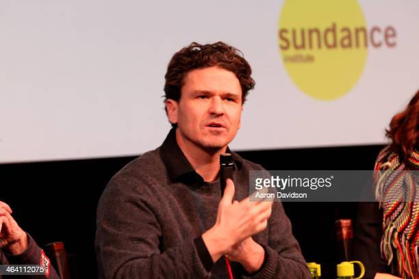 Author Dave Eggers speaks at the 'Exploratory Details' Panel during the 2014 Sundance Film Festival at Egyptian Theatre on January 20 2014 in Park...