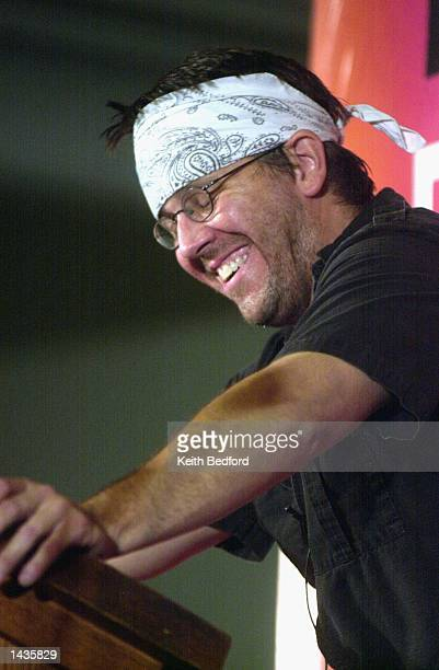 Author David Foster Wallace reads selections of his writing during the New Yorker Magazine Festival in New York September 27 2002