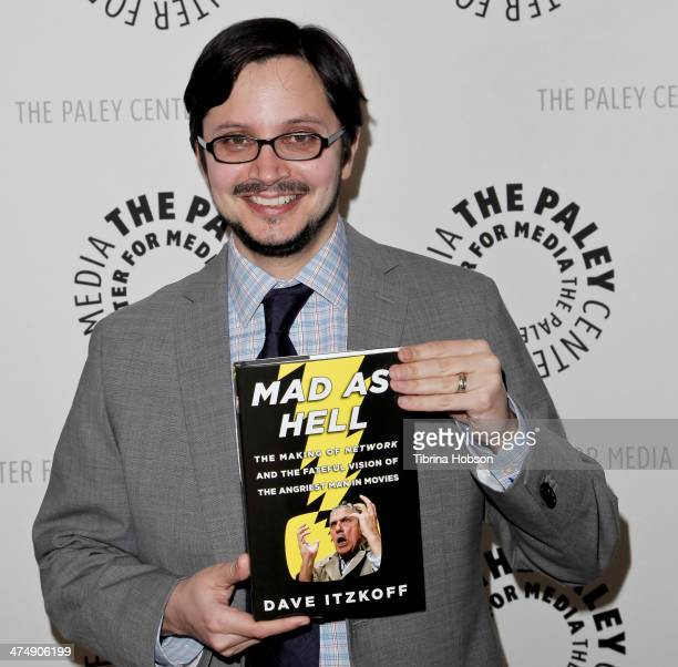 Author David Itzkoff attends the 'Mad as Hell The Making of Network and the Fateful Vision of the Angriest Man in Movies' book release event at The...