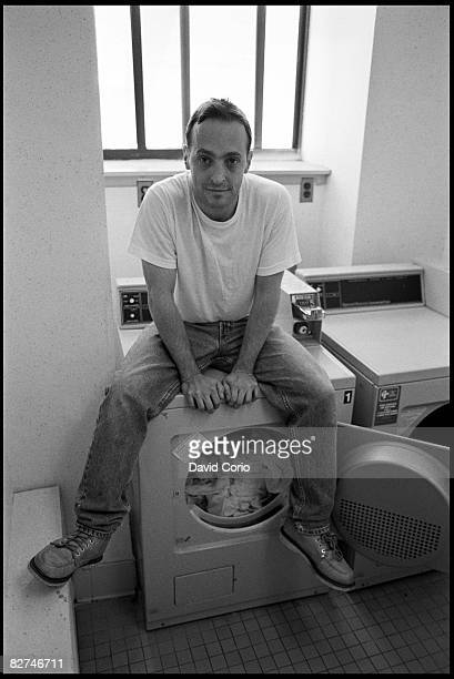 Author David Sedaris does the laundry in his apartment at Astor Place on June 28 1993 in New York City New York