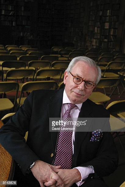 Author David Starkey poses for a portrait at the annual Sunday Times Oxford Literary Festival held at the Oxford Union on March 26 2004 in Oxford...