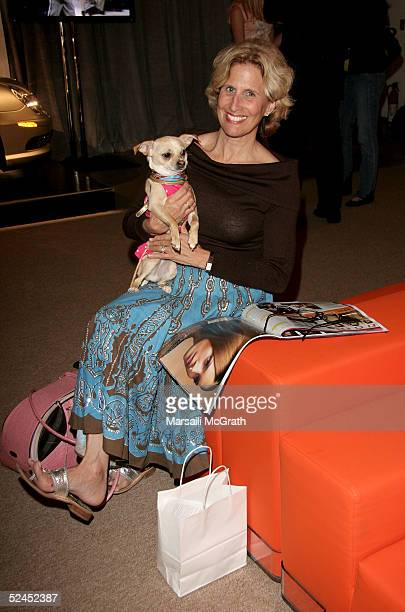 Author Debbie Stark and Dog Lucy Anne are seen around Smashbox during Mercedes-Benz Fashion Week at Smashbox Studios March 18, 2005 in Culver City,...