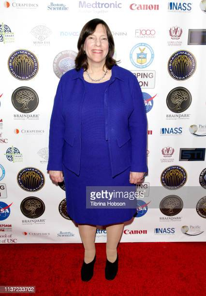 Author Deborah Zelinsky attend the 16th annual 'Gathering for Cure' black tie awards gala of Brain Mapping Foundation on March 16 2019 in Los Angeles...