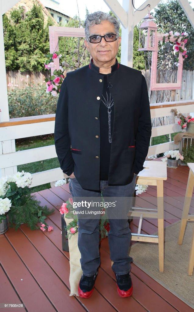Author Deepak Chopra visits Hallmark's 'Home & Family' at Universal Studios Hollywood on February 13, 2018 in Universal City, California.