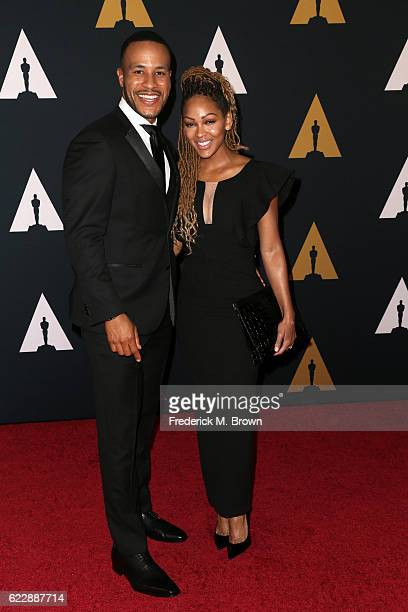 Author DeVon Franklin and actress Meagan Good attend the Academy of Motion Picture Arts and Sciences' 8th annual Governors Awards at The Ray Dolby...