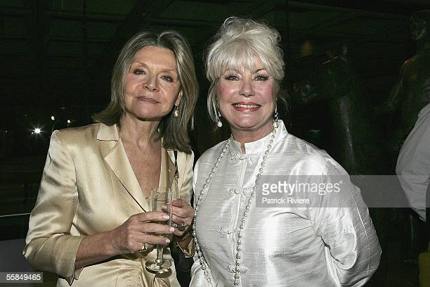 Author Di Morrissey and Fashion Designer Carla Zampatti attend the launch of Lizzie Spender's book Wild Horse Diaries at the Art Gallery of New South...