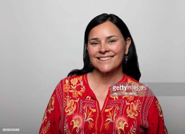 Author Diana Gabaldon is photographed for Los Angeles Times on April 21 2018 in the LA Times Studio at the Los Angeles Times Festival of Books at the...