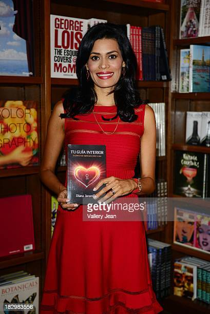 Author Diana Jaramillo signs copies of her book Tu guia interior at Books and Books on October 2 2013 in Coral Gables Florida