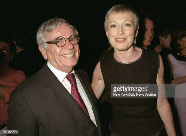 Author Dominick Dunne and Liz Tilberis of Harpers Bazaar on hand at the Four Seasons for a book party for her autobiography No Time To Die