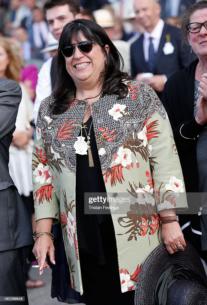 Author E. L. James attends day two of the Qatar Goodwood Festival at Goodwood Racecourse on July 29, 2015 in Chichester, England.