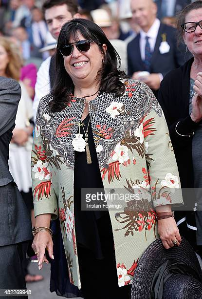 Author E L James attends day two of the Qatar Goodwood Festival at Goodwood Racecourse on July 29 2015 in Chichester England
