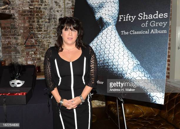 Author E L James attends the 'Fifty Shades Of Grey' The Classical Album Launch Event at Soho House on September 17 2012 in New York City
