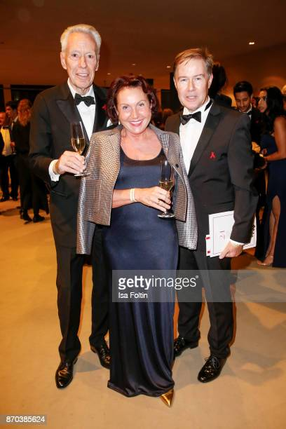 Author Egon F Freiheit German presenter Ulrich Meyer and his wife Georgia Tornow during the 24th Opera Gala at Deutsche Oper Berlin on November 4...