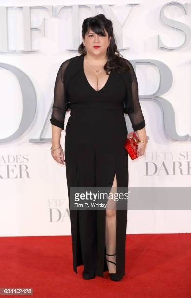 Author EL James attends the UK Premiere of 'Fifty Shades Darker' at the Odeon Leicester Square on February 9 2017 in London United Kingdom