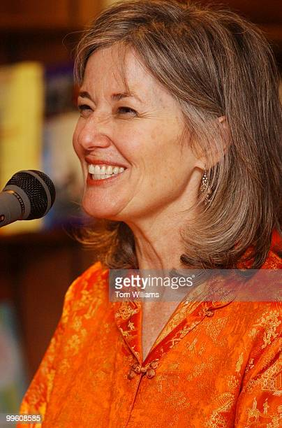 Author Elizabeth Berg addresses her audience during a book signing at Olsson's Books Records in downtown Washington DC May 17 2002