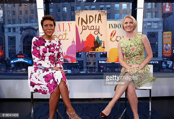 AMERICA Author Elizabeth Gilbert is a guest on 'Good Morning America' 3/30/16 airing on the ABC Television Network ROBIN